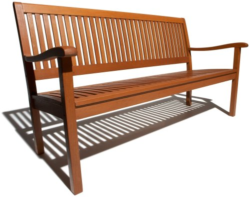 Outdoor Wooden Bench With Back For Your Relaxing Place