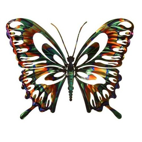 Bendable Multi Colored Metal Erfly Wall Art